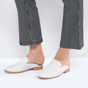 Free People White Leather At Ease Slip On Loafer